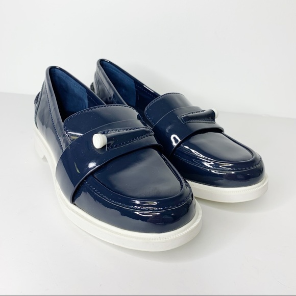 484888b4cec TORY BURCH Sport Navy Pocket-Tee Golf Loafers Sz 7